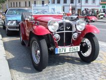 Very old red cabriolet, Aero 1000 Stock Photography