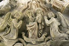 Very old religious statue Royalty Free Stock Photos