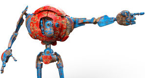 Very old robot that way Royalty Free Stock Photo