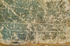 Grungy cover of the old book background. Very old rough paper covered with cracks Royalty Free Stock Images