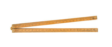 Very old ruler isolated Royalty Free Stock Photography