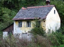 Very old rural house. Very old and ruined country house in Europe Royalty Free Stock Photos