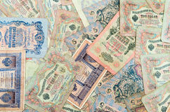 Very old Russian banknotes royalty free stock images