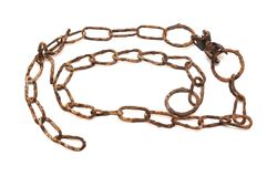 Very old rusty chain Stock Image