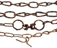 Very old rusty chain Stock Photography