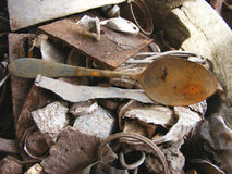 Very old rusty spoon. Very old rusty vintage spoon Stock Photo