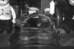 Very old sewing machine Royalty Free Stock Image