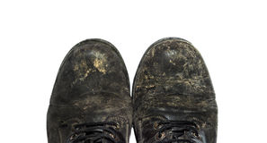 Very old shoes Royalty Free Stock Photo