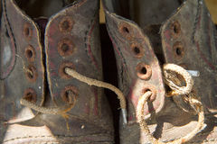 Very old shoes. Very old worn out shoes Royalty Free Stock Photography