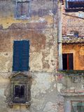 Very Old Sienna Buildings Royalty Free Stock Photography