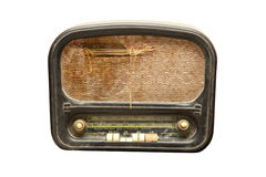Very old and smashed the radio Stock Photography