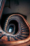 Very old spiral stairway case Royalty Free Stock Images