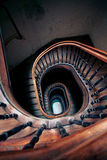Very old spiral stairway case Royalty Free Stock Photography