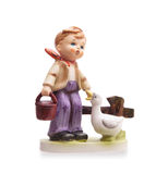 Very old statue, small ceramic boy Stock Photography