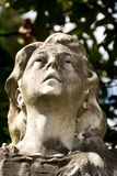Very old statue of a woman Royalty Free Stock Photography