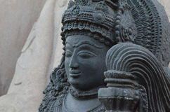 Very old statue of Yaksha. This is a photograph of a very old statue of Yaksha capture in Shravanabelagola, a Spiritual place in Karnataka Stock Image