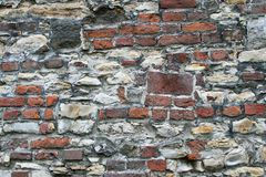 Very old stone and brick wall texture Royalty Free Stock Images