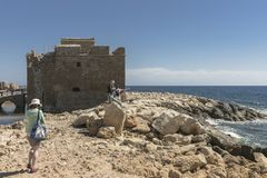 Castle in Pafos Stock Images