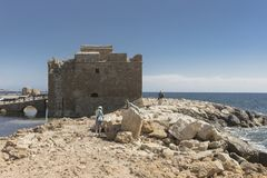 Castle in Pafos Royalty Free Stock Photo