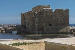 Castle in Pafos Stock Photography
