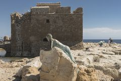 Castle in Pafos Stock Photo