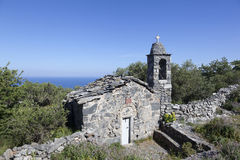 Free Very Old Stone Church Ekklesia Agios Nicolaos On Mani In Greek P Stock Images - 91858774