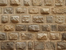 Very old stone wall. In the facade of a medieval castle Zvikov (Czech republic royalty free stock images