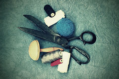 Very old tailor's scissors Royalty Free Stock Photography
