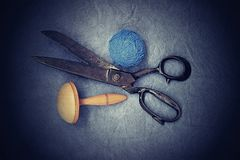 Very old tailor's scissors Royalty Free Stock Images