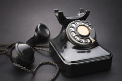 Very old telephone Royalty Free Stock Photo