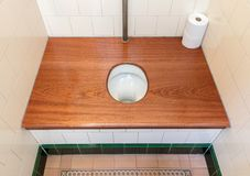 Very old toilet in the Netherlands Royalty Free Stock Photography