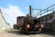 A very old train. In Budapest, Hungary Stock Photography