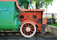 Very old train wheel museum Royalty Free Stock Photos