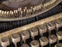 Very old typewriter Royalty Free Stock Photos