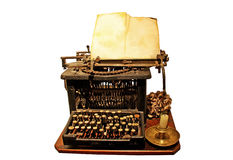 Very old typewriter Royalty Free Stock Photo