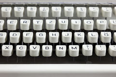 Old typewriter keyboard Royalty Free Stock Photography