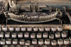 Very old typewriter Thai keys Stock Photo