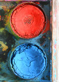 Very old used water color paint box Royalty Free Stock Photography