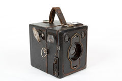 Very old vintage camera on white background Royalty Free Stock Images