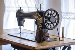 Very old vintage sewing machine 3 Stock Photography