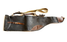 Very old vintage shotgun bag Royalty Free Stock Image