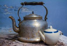 Very old vintage teapot Royalty Free Stock Photo