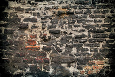 Very old wall. With stones and bricks Royalty Free Stock Photography