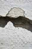 Very old wall with a crack on it stock images
