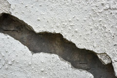 Very old wall with a crack on it royalty free stock images
