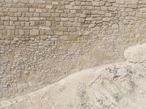 Very old wall of sand stone blocks Royalty Free Stock Images