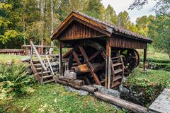 Very old water driven iron works in Hofors Sweden Royalty Free Stock Image