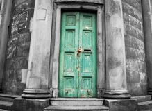 Very old weathered door Stock Photos