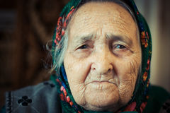 Very old woman Stock Images