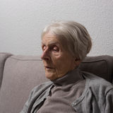 Very old woman Stock Photography